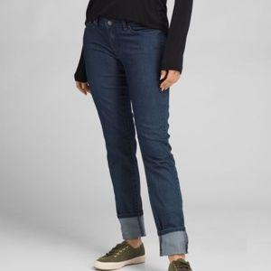 Prana Kara Jean Size 2 Indigo Blue Slim EUC